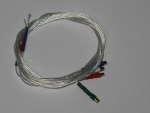 30AWG-5N-Pure-Silver-Turntable-Tonearm-Wire-1-2-Gold-Terminal-400mm-Uk-Stock