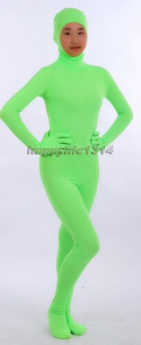 Kid Adult Unisex Face Open Lycra Spandex Zentai Costume Catsuit Unitard leotard