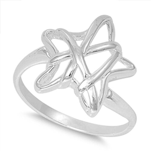 Women/'s Starfish Wrapped Cute Ring New .925 Sterling Silver Band Sizes 5-9