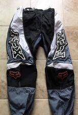 Fox Racing Inc Motorcross Pants Mens SZ 36 Grey Black White
