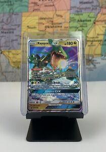 SHIPS-SAME-DAY-Pokemon-Card-NM-M-Rayquaza-GX-109-168-Holo-2018-Ultra-Rare-Dragon
