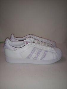 Adidas Superstar White Purple BD7429