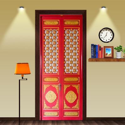 Door Mural China style Door Self Adhesive Fabric Door Wrap Wall Sticker