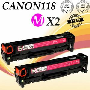 2PK-Magenta-Toner-Cartridge-For-Canon-118-MF8350Cdn-MF8380Cdw-MF8580Cdw-MF729Cdw