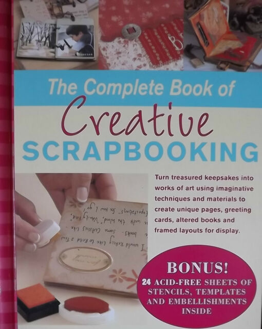 THE COMPLETE BOOK OF SCRAPBOOKING CARDS FRAMES LAYOUTS STENCILS TEMPLATES