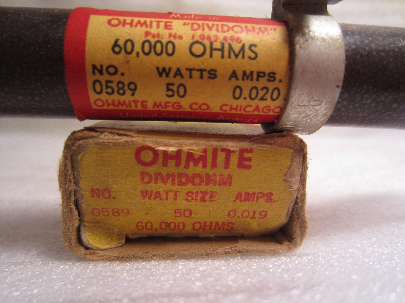 Ohmite 250k Ohms 50 Watts Virteous Enameled Resistor L50J250K  L50J250KE