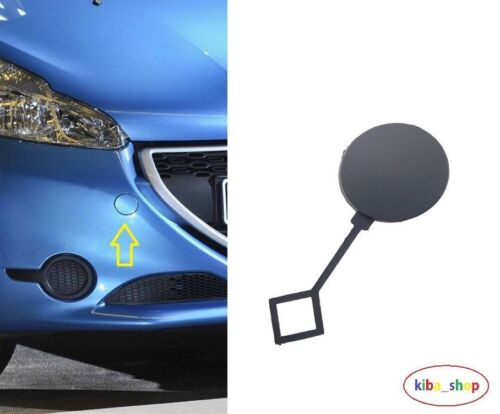 PEUGEOT 208 2012 FRONT BUMPER TOW TOWING EYE HOOK COVER CAP NEW 1607397980