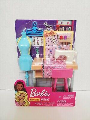 Barbie Career Places Sewing Fashion Designer Playset 887961696967 Ebay