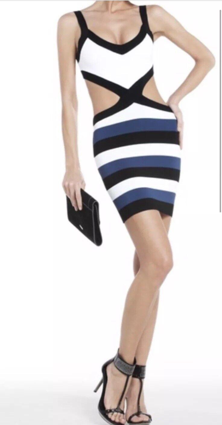 BCBGMAXAZRIA Elle Cut-out Dress Sz M NewOT