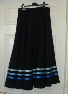 RAD IDTA CHARACTER BALLET SKIRT BLUE RIBBONS .Poly//cotton or polyester PRESENT