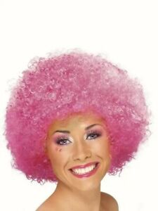 Pink-Afro-Clown-wig-Pink-curly-afro-hair-Fancy-dress-costume