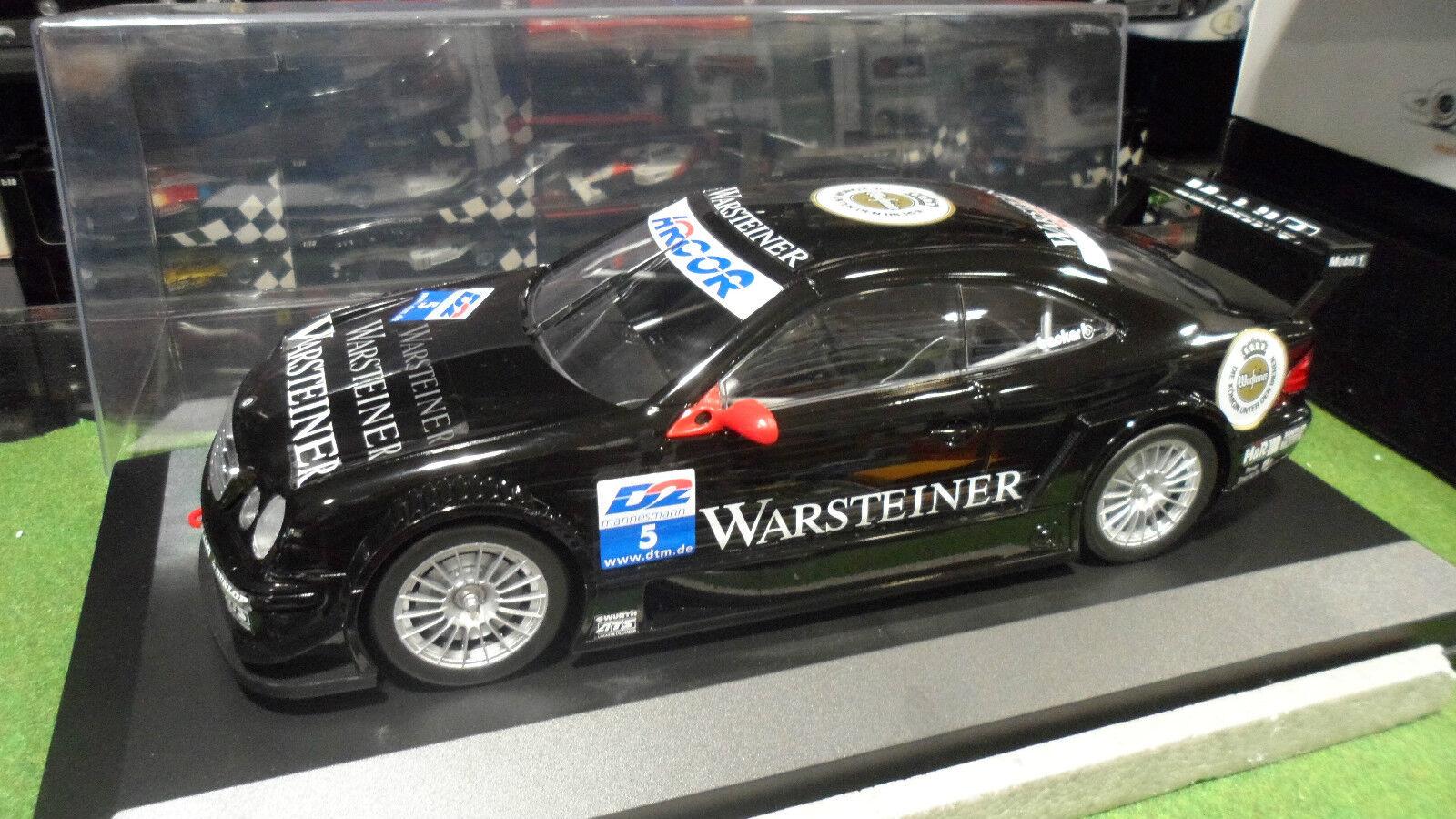 MERCEDES BENZ CLK DTM WARSTEINER Noir + VITRINE 1 12 CARSON voiture miniature