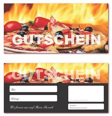 Pizza-624 10 Geschenkgutscheine Gastronomie Gutscheine Pizzeria Restaurant