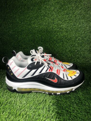 Nike Air Max 98 Bright Crimson Black White Mens Si