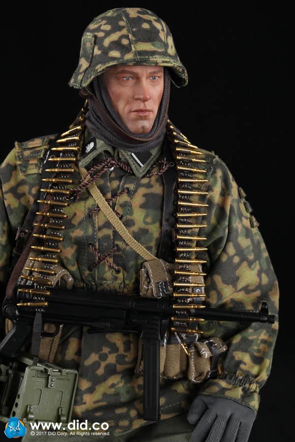 DID 1 6 Escala II Guerra Mundial Alemán Alemán Alemán 3ª División Panzer Mg34 Artillero  calidad oficial
