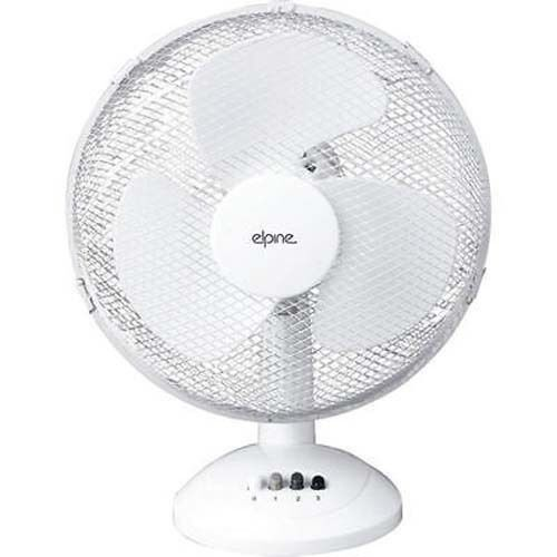 "12/"" Oscillating Electric Portable Desk Fan Silent Cooling Home Office New"