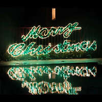 5.5m Merry Christmas Sign Led Rope Light Commercial