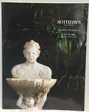 Sothebys New York GARDEN STATUARY Monday June 19 1995 Auction Catalog