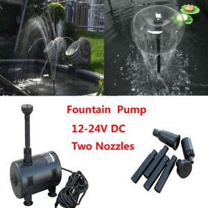 Details About Solar Ed Submersible Fountain Pond Brushless Garden Waterfall Water Pump