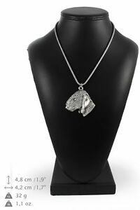 Bedlington-Terrier-silver-plated-pendant-with-silver-cord-Art-Dog-IE