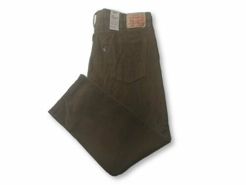 LEVI/'S 502 REGULAR TAPER CORDUROY PANTS MENS SIZE 38X30 ZIP FLY BROW STRETCH NWT