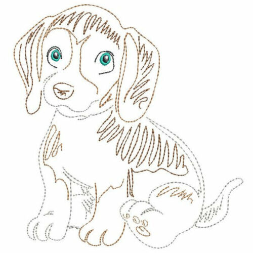 CUTE PUPPY DOG  EMBROIDERED 10 QUILT BLOCKS ADORABLE