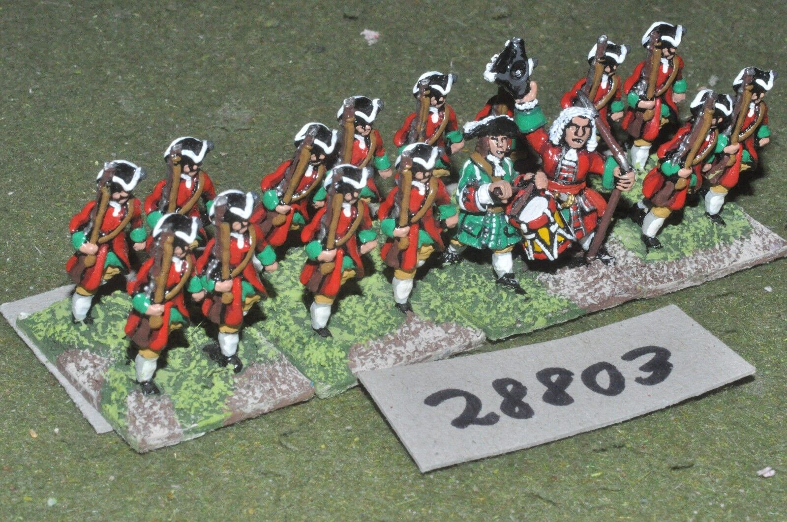 25mm marlburian   british - regt. 16 figures - inf (28803)