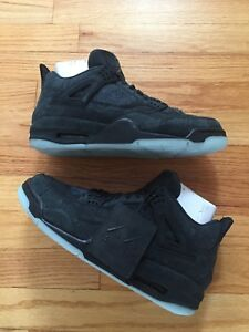 7e0b5940d51a Air Jordan 4 Kaws Black Clear Glow 100% Authentic Size 9.5