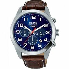 BRAND NEW MEN'S Pulsar Chronograph Shiny Blue Dial Watch PT3811X1 RRP: £150.00