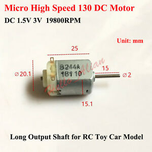 2PCS DC 1.5V-3V 14000RPM Dual Shaft Mini 130 DC Motor Hobby Toy Car Fan Model