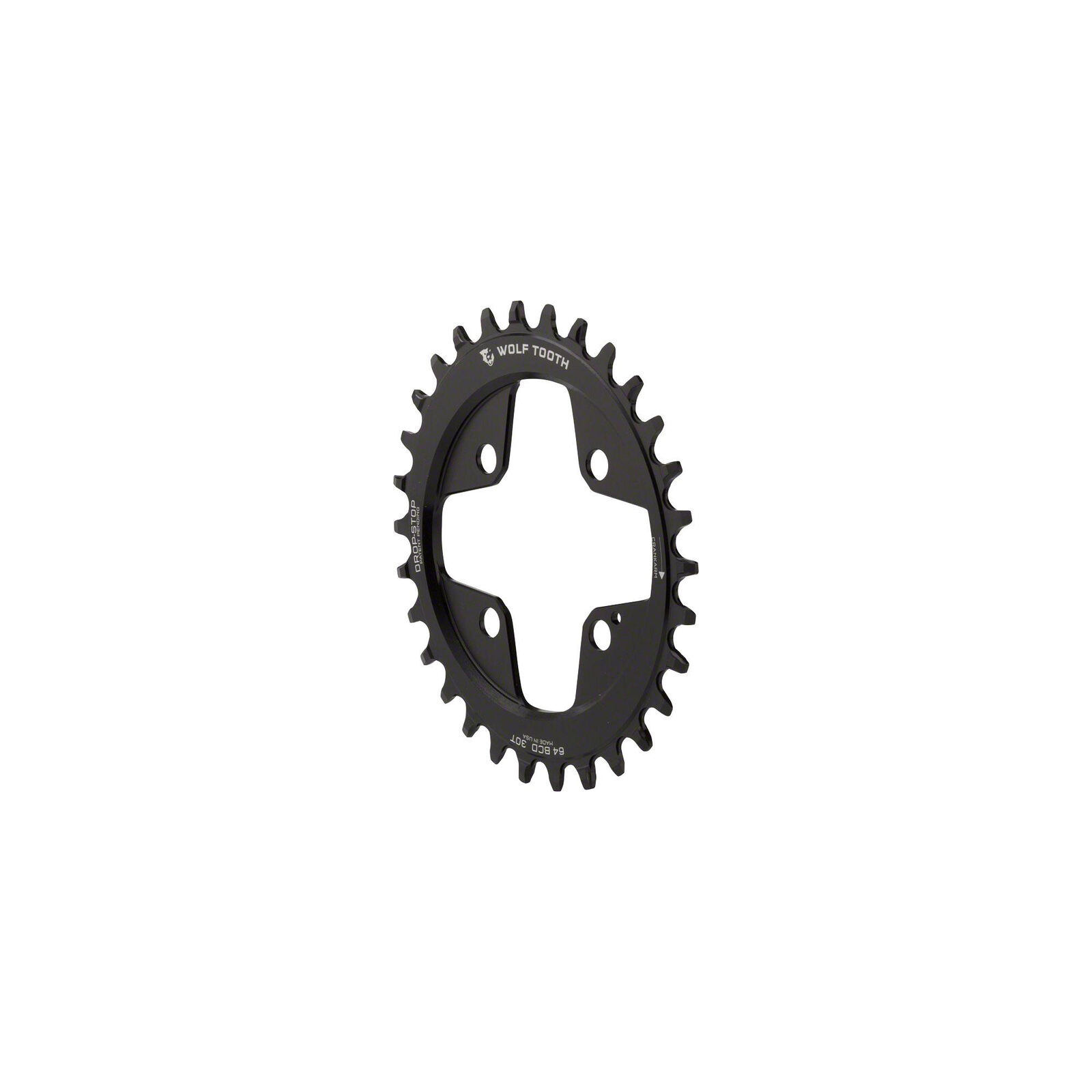 Wolf Tooth Components Drop-Stop Elliptical Chainring  30T x 64 BCD