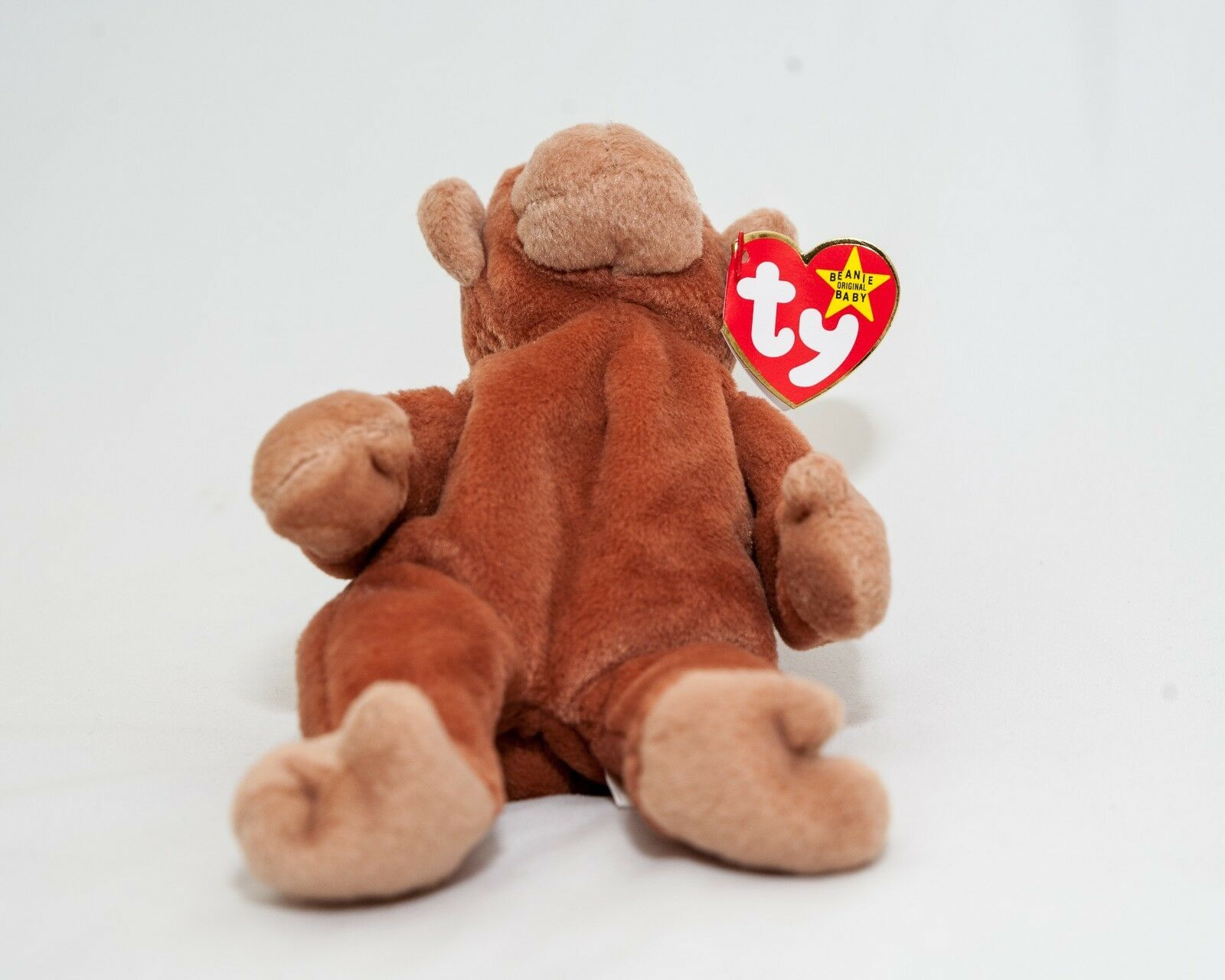 BONGO THE THE THE MONKEY Ty Beanie Baby 1995 - NO RED STAR - THE TAPED ON A STAR INSTEAD 7654c7