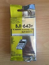 GENUINE ORIGINAL CANON BJI 643 YELLOW INK CARTRIDGE BJC 800/820/820J/880/880J