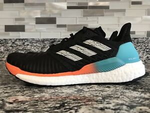 adidas Solar BOOST M Hi-Res Aqua Black Grey Men Sz 8 Running Shoes ... a6725f371194