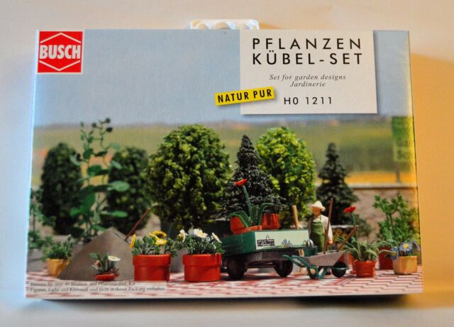 Busch H0 1211 Garden Designs Set for Dioramas Scenics Model Rail Wargames