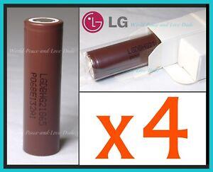 4x Genuine LG HG2 18650 Batteries 3000mah 20A IMR Flashlight Vape Mod FREE SHIPP