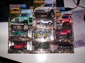LOTTO-7-MODELLINI-JEEP-MATCHBOX-1-64