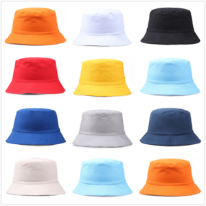 Unisex Adults Cotton Bucket Hat Fishing Fisher Beach Festival Sun Cap 2021 HOT