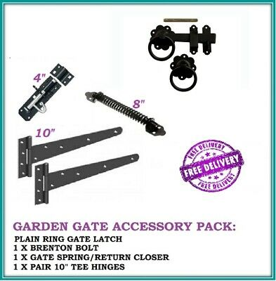 PLAIN RING GARDEN GATE FITTING PACK *4 ITEMS* GATE LATCH  FREE DELIVERY D10