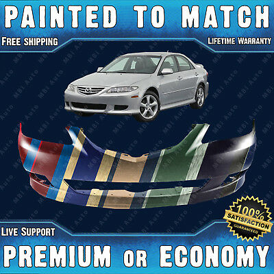 NEW Fits 2003 2004 2005 Mazda 6 w//o spoiler Front Bumper Painted MA1000187