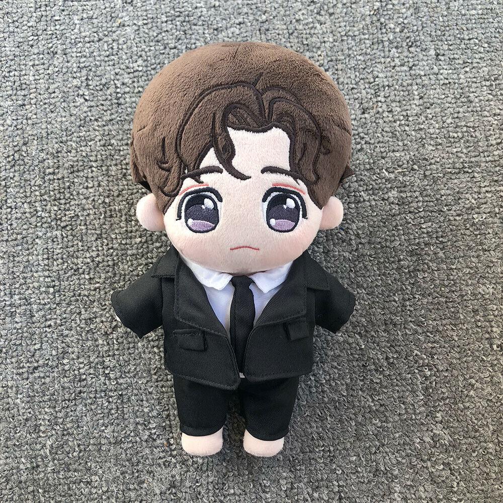 20CM Kpop EXO 朱一龙 Doll Clothes Black Suit Accessory Set Cosplay Limit N