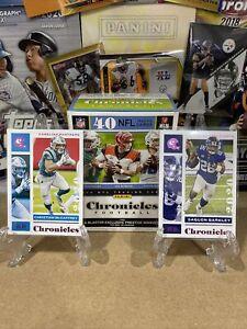 Panini Chronicles NFL Pink Foil Card Lot X2 Saquon Barkley Christian Mccaffery