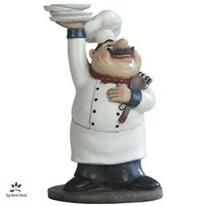 Details about Fat Chef Figurine Kitchen Decor Italian Figure 11\