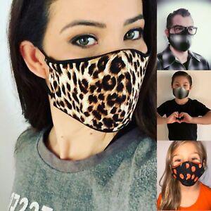 Face Mask Double Layer Fabric Protection Washable Unisex Masks Ships Now Ebay