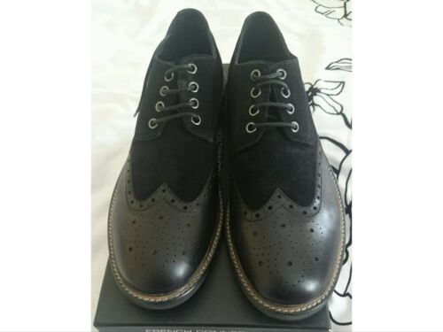 Connection Brogue Shoes 10 Black Bnib Suede Flynn And Uk Leather Eu44 French OgdwqO