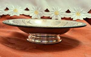Vintage Oneida silversmiths Plaqué Argent Footed écrou Candy Serving Bowl Dish