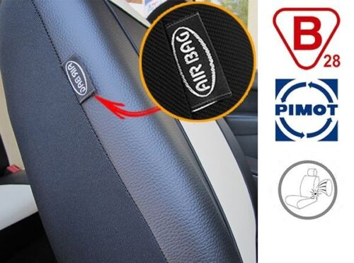 Black Eco-Leather Universal VAN Seat Covers 2+1 for Mercedes Vito W638
