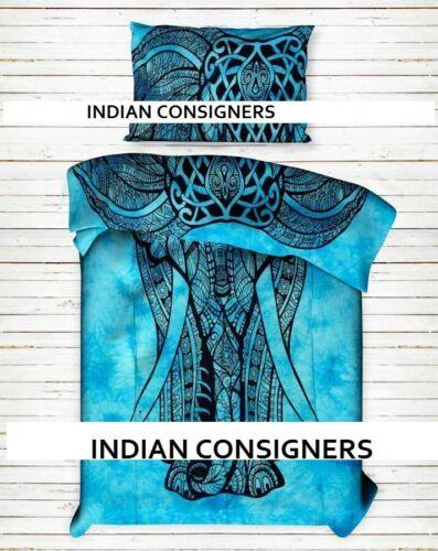 Baumwolle Bettwäsche Twin Size Bettbezug Vorderer Elefant Handgemachte indisch