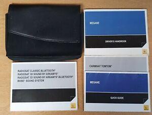 Owners Manual // Handbook Wallet 2009-2012 RENAULT CLIO III Audio Guide
