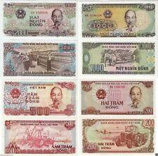 Lot Vietnam Banknoten 200,500,1000,2000 Dong bankfrisch aus Bündel UNC SELTEN